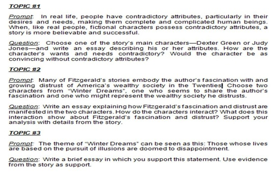 winter dreams essay